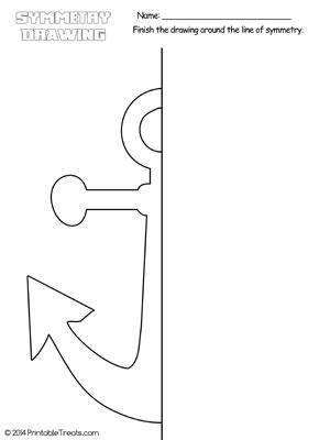 anchor symmetry drawing worksheet