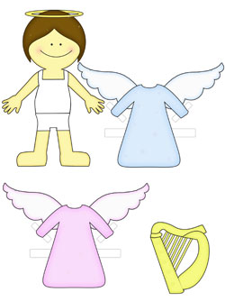girl angel paper doll
