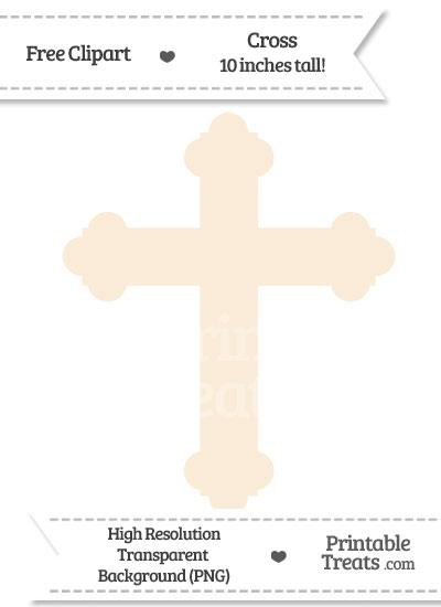 Antique White Cross Clipart from PrintableTreats.com