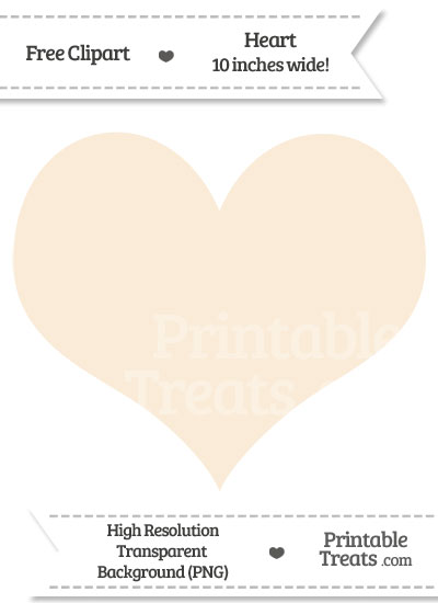 Antique White Heart Clipart from PrintableTreats.com