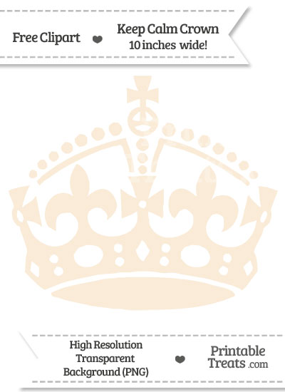 Antique White Keep Calm Crown Clipart from PrintableTreats.com