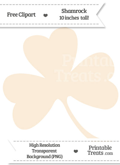 Antique White Shamrock Clipart from PrintableTreats.com