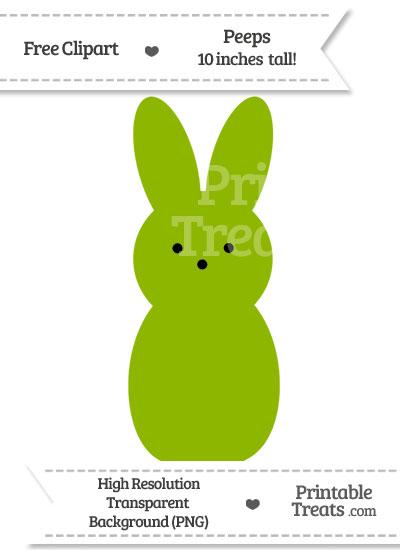 Apple Green Peeps Clipart from PrintableTreats.com