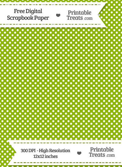 Apple Green Raised Mini Polka Dots Digital Paper from PrintableTreats.com