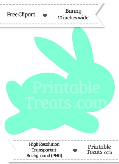 Aquamarine Bunny Clipart from PrintableTreats.com