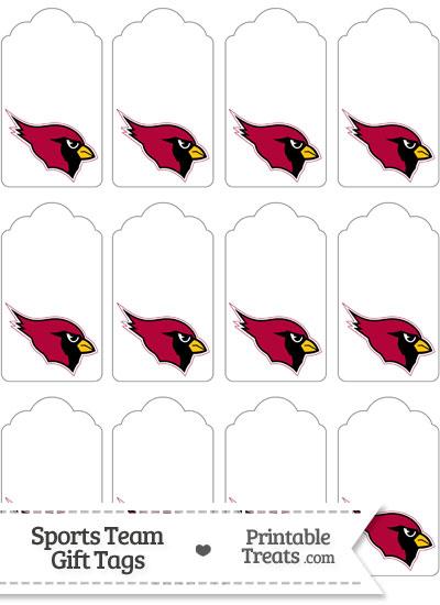 Arizona Cardinals Gift Tags from PrintableTreats.com