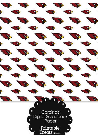 Arizona Cardinals Logo Digital Paper from PrintableTreats.com