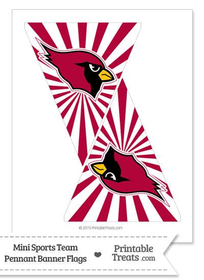 Arizona Cardinals Mini Pennant Banner Flags from PrintableTreats.com