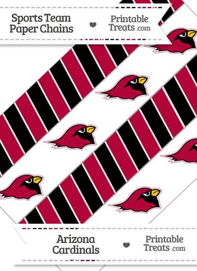 Arizona Cardinals Paper Chains from PrintableTreats.com