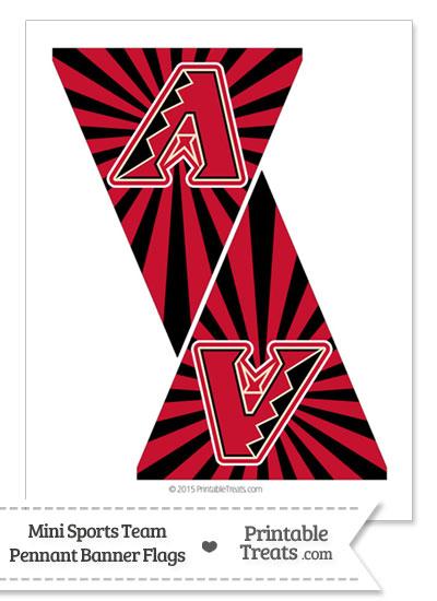 Arizona Diamondbacks Mini Pennant Banner Flags from PrintableTreats.com