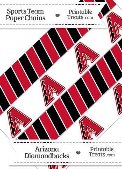 Arizona Diamondbacks Paper Chains from PrintableTreats.com