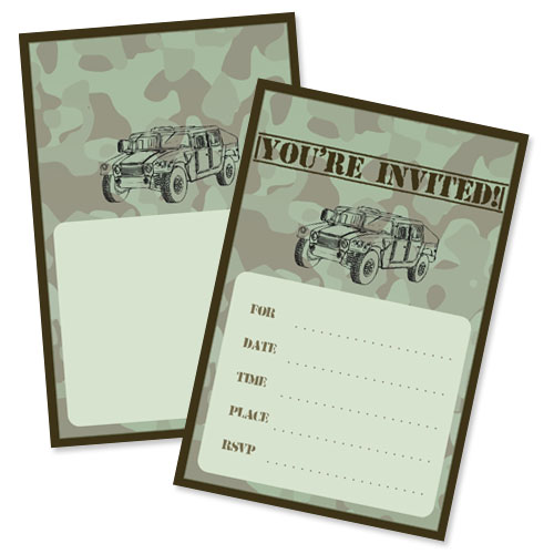 army party invitations
