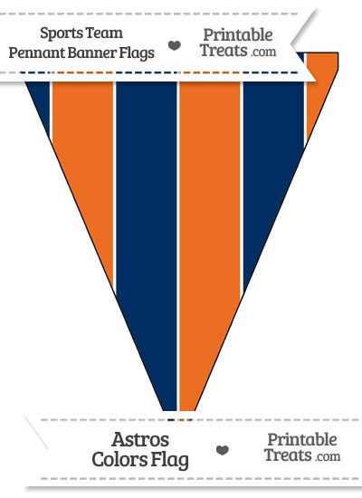 Astros Colors Pennant Banner Flag from PrintableTreats.com