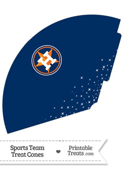 Astros Treat Cone Printable from PrintableTreats.com