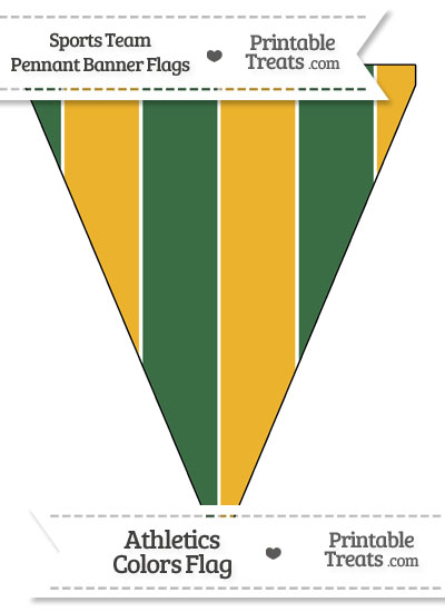 Athletics Colors Pennant Banner Flag from PrintableTreats.com