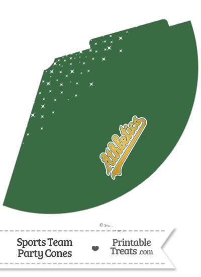 Athletics Party Cone Printable from PrintableTreats.com