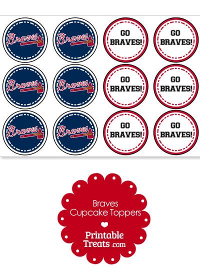 Atlanta Braves Cupcake Toppers from PrintableTreats.com