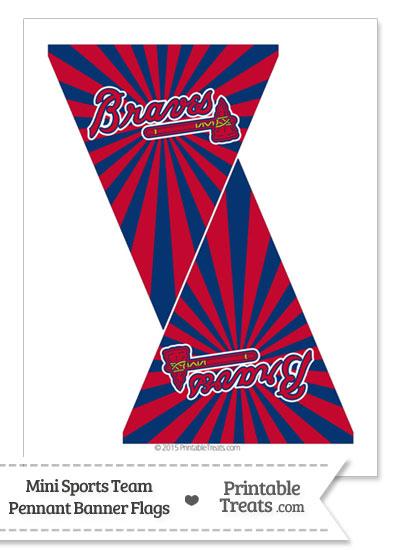 Atlanta Braves Mini Pennant Banner Flags from PrintableTreats.com