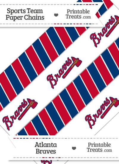 Atlanta Braves Paper Chains from PrintableTreats.com