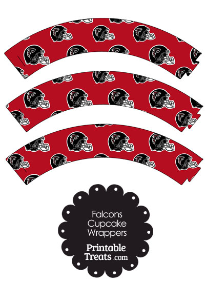Atlanta Falcons Football Helmet Cupcake Wrappers from PrintableTreats.com