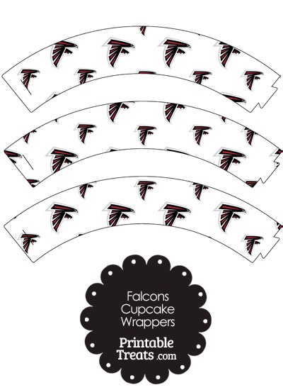 Atlanta Falcons Logo Cupcake Wrappers from PrintableTreats.com