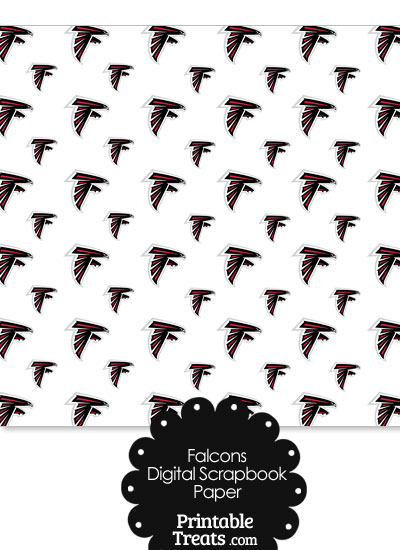 Atlanta Falcons Logo Digital Paper from PrintableTreats.com