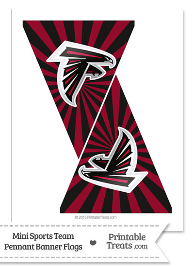 Atlanta Falcons Mini Pennant Banner Flags from PrintableTreats.com