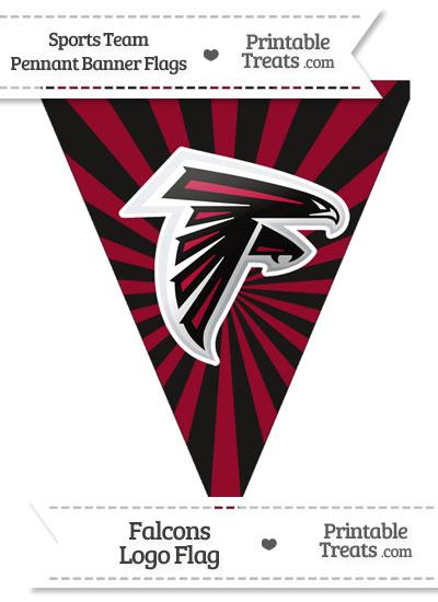 Atlanta Falcons Pennant Banner Flag from PrintableTreats.com