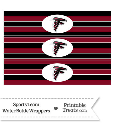 Atlanta Falcons Water Bottle Wrappers from PrintableTreats.com