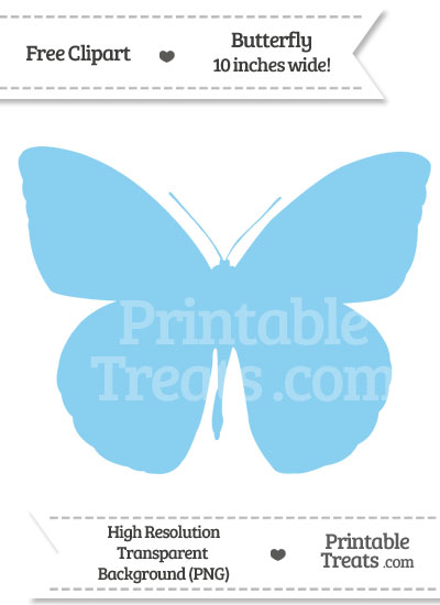 Baby Blue Butterfly Clipart from PrintableTreats.com