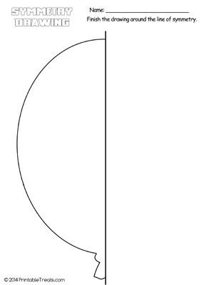 balloon symmetry drawing worksheet