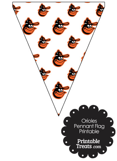 Baltimore Orioles Baseball Pennant Banners from PrintableTreats.com
