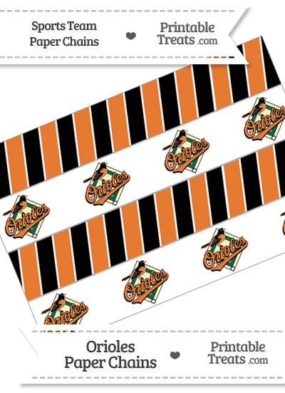 Baltimore Orioles Paper Chains from PrintableTreats.com