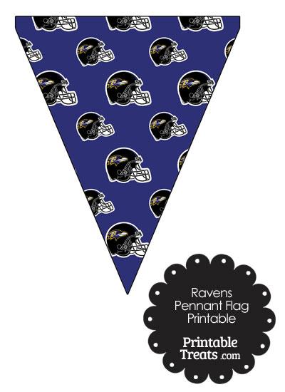Baltimore Ravens Football Helmet Pennant Banners from PrintableTreats.com
