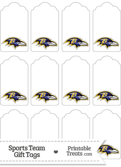 Baltimore Ravens Gift Tags from PrintableTreats.com