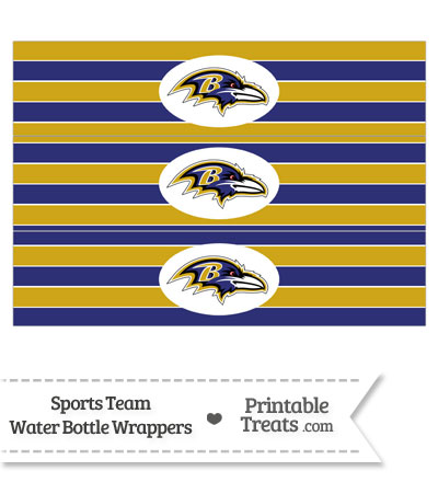 Baltimore Ravens Water Bottle Wrappers from PrintableTreats.com