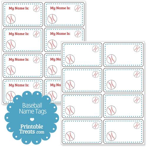 baseball name tags