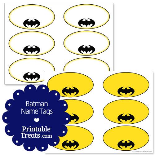 batman printable name tags