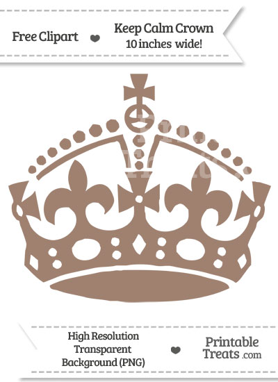 Beaver Brown Keep Calm Crown Clipart from PrintableTreats.com