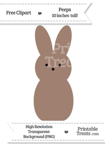 Beaver Brown Peeps Clipart from PrintableTreats.com