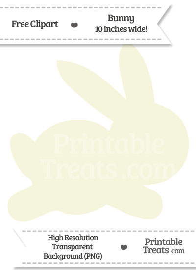 Beige Bunny Clipart from PrintableTreats.com