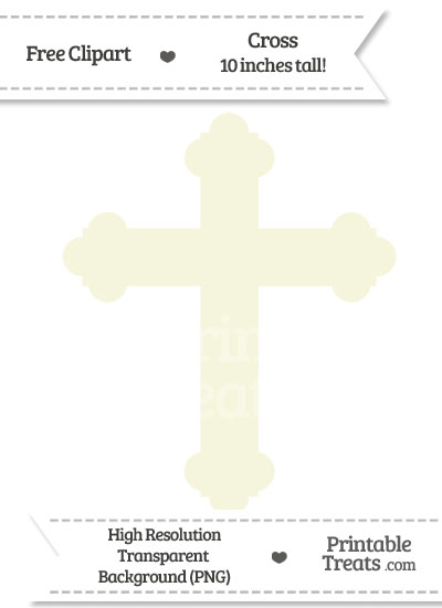 Beige Cross Clipart from PrintableTreats.com