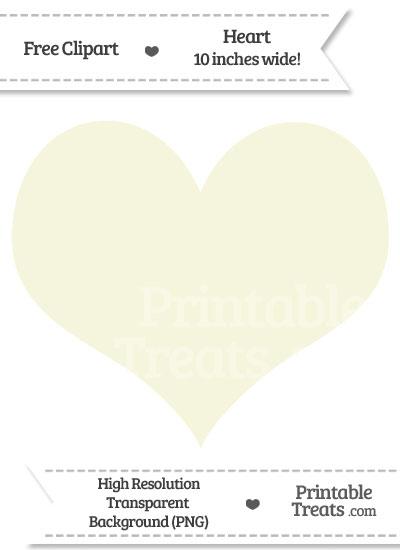 Beige Heart Clipart from PrintableTreats.com