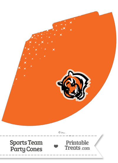 Bengals Party Cone Printable from PrintableTreats.com