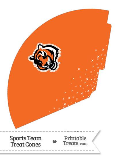 Bengals Treat Cone Printable from PrintableTreats.com