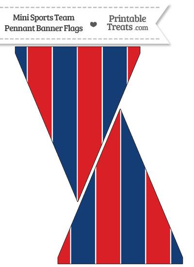 Bills Colors Mini Pennant Banner Flags from PrintableTreats.com