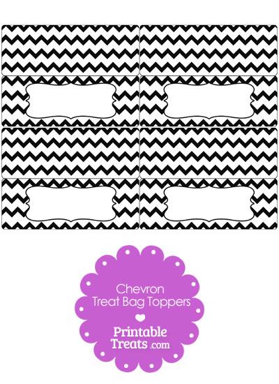 Black Chevron Treat Bag Toppers from PrintableTreats.com