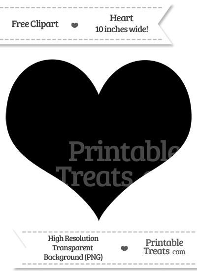 Black Heart Clipart from PrintableTreats.com