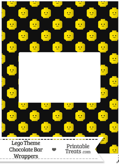 Black Lego Theme Chocolate Bar Wrappers from PrintableTreats.com
