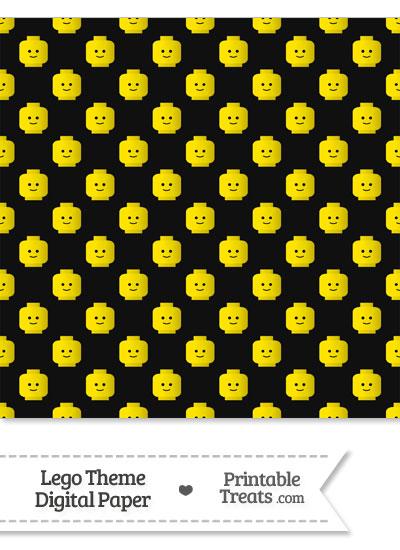 Black Lego Theme Digital Scrapbook Paper from PrintableTreats.com